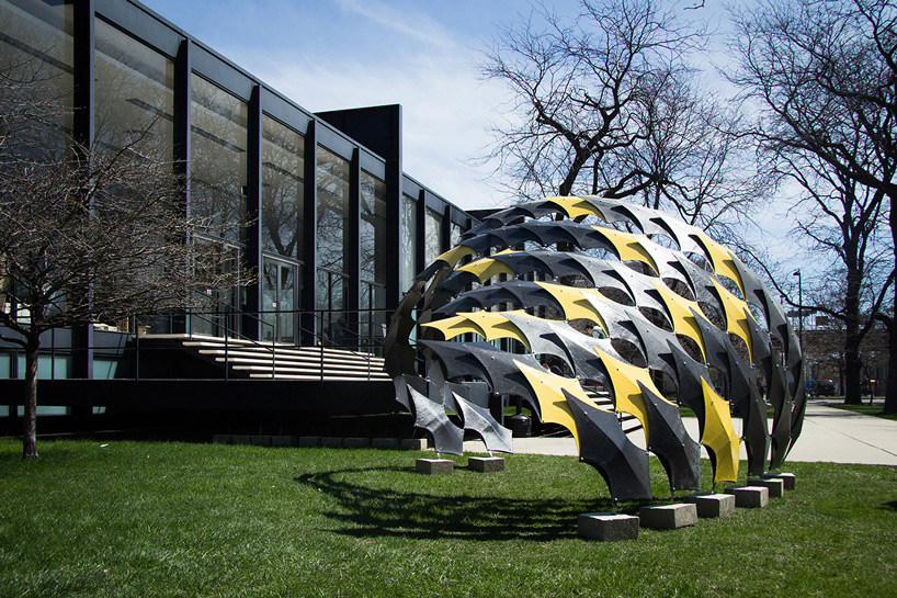 IIT students design a structure with carbon fiber
