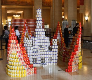 Canstruction at the Merchandise Mart