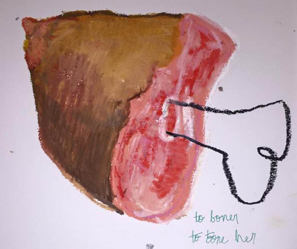"""Sarah Law's """"Hamhock"""" is typical of Daily Doodlez irreverent and confessional entries"""
