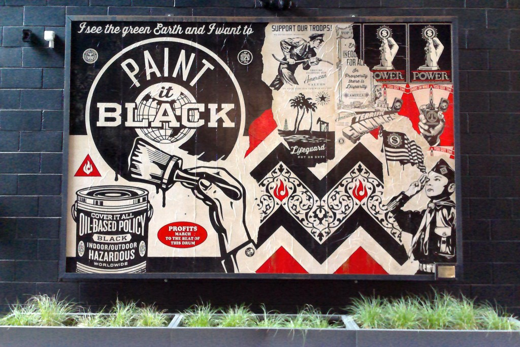 "Shepard Fairey's ""Paint It Black"" mural"