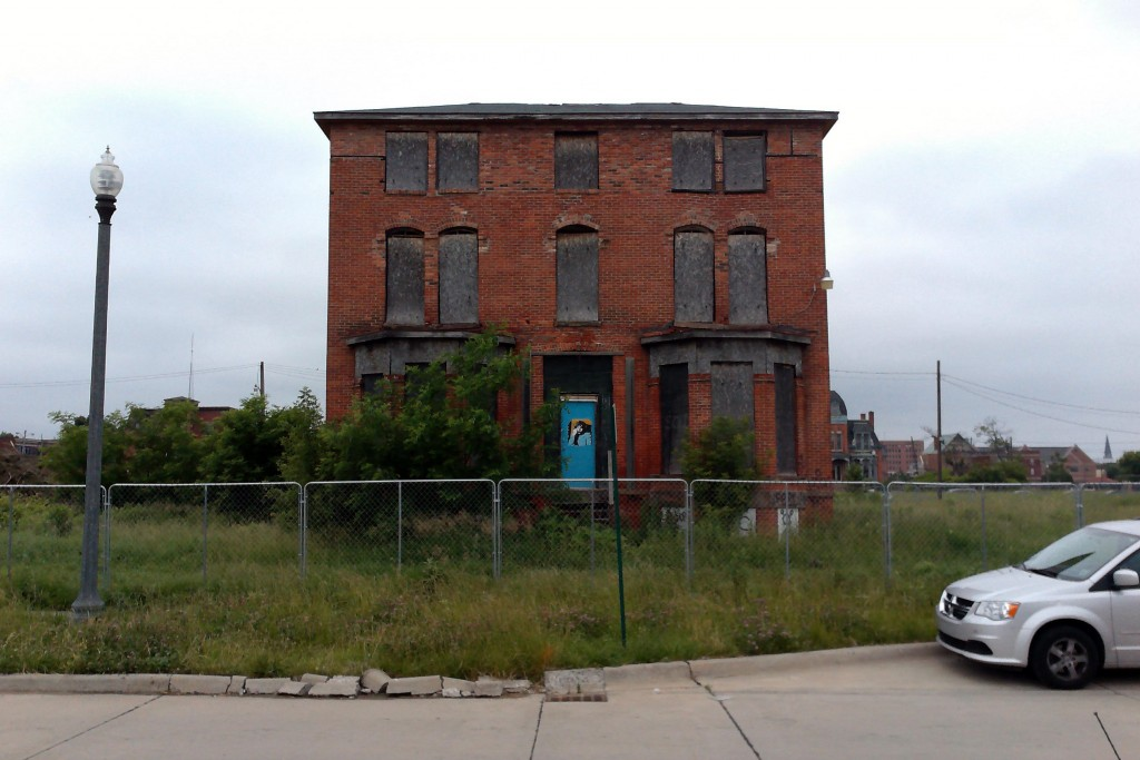 A vacant home in Brush Park is to be maintained and incorporated into Gilbert's new development.
