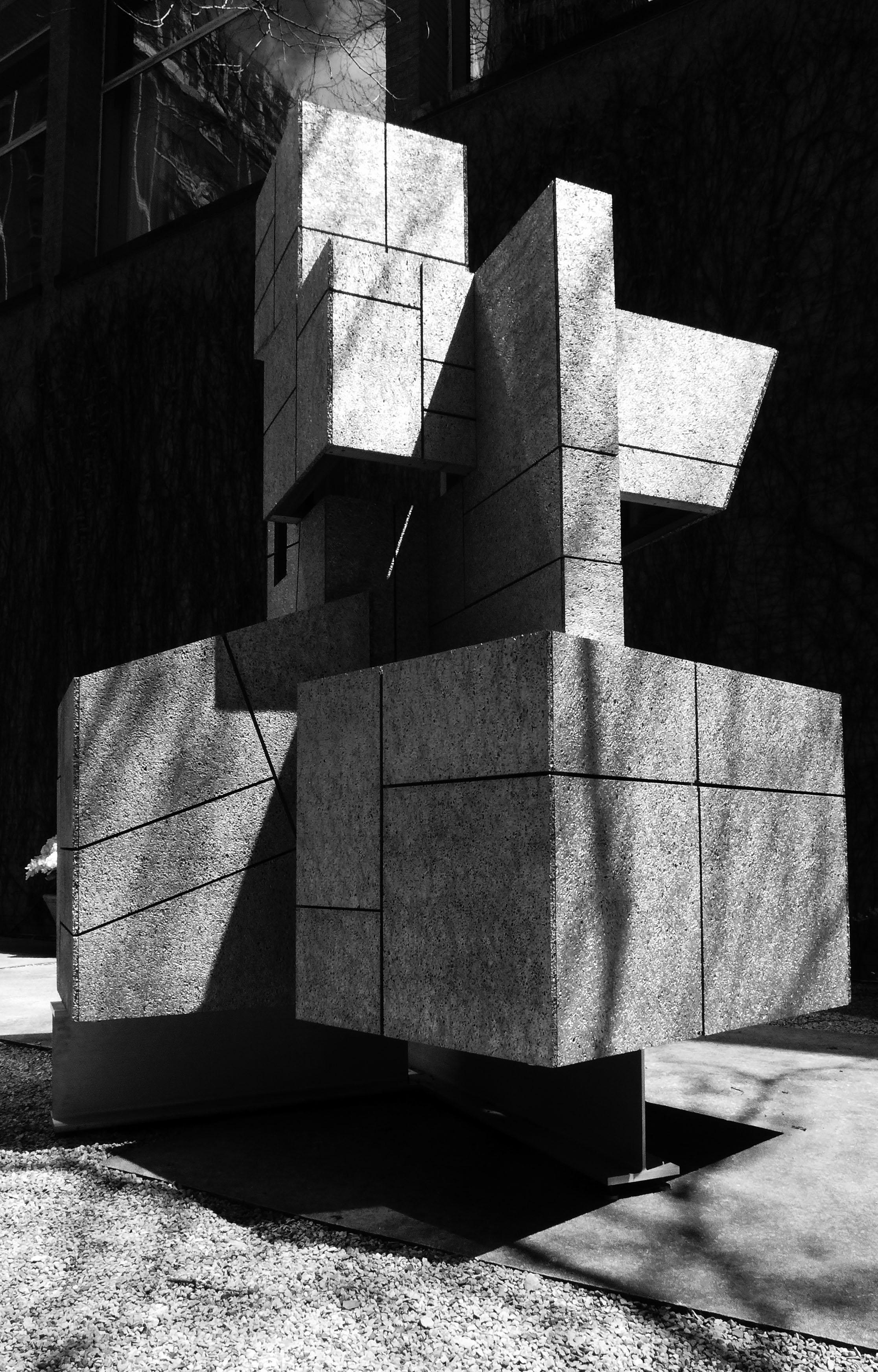 "-Ziggurat"" garden folly at the Arts Club of Chicago 2"