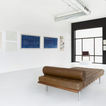In It With Mies: Original Blueprints and Artifacts at Matthew Rachman Gallery