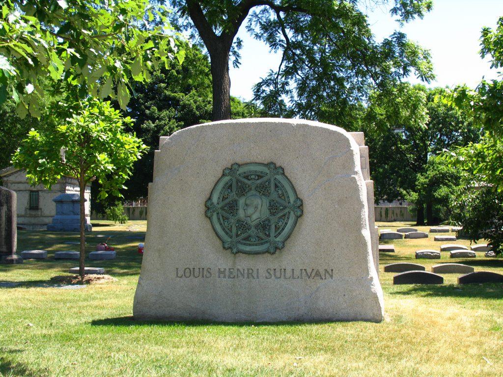 Louis Henri Sullivan's tombstone in Graceland Cemetery